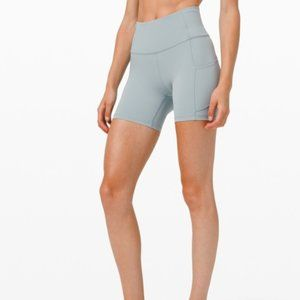 lululemon Fast and Free Shorts in Blue Cast 6""